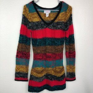 📦  F&F Striped Multicolor Knitted Sweater